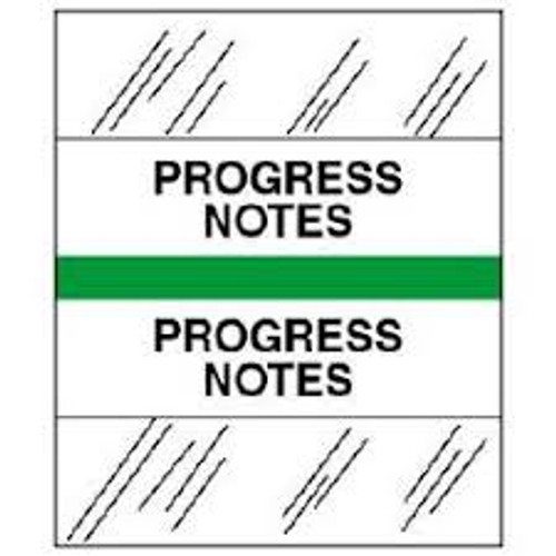 Amerifile (Tabbies Compatible) Chart Divider Tabs - Divider - Box of 100 - Green - Progress Notes