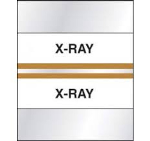 "Amerifile (Tabbies Compatible) Chart Index Divider Tabs - ""X-Ray"" - Tan - 1-1/4"" Tabs - Box of 100"