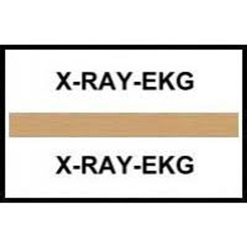 Amerifile (Tabbies Compatible) Chart Divider Tabs - Divider - Box of 100 - Lt. Brown - X-Ray - EKG
