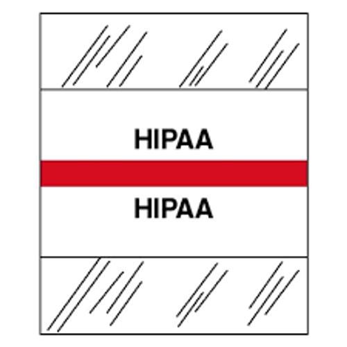 Amerifile (Tabbies Compatible) Chart Divider Tabs - Divider - Box of 100 - Red - HIPAA