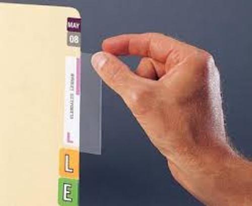 "AmeriFile Clear Mylar Label Protectors - 3 1/2"" x 1 3/4"" - Pkg of 100"