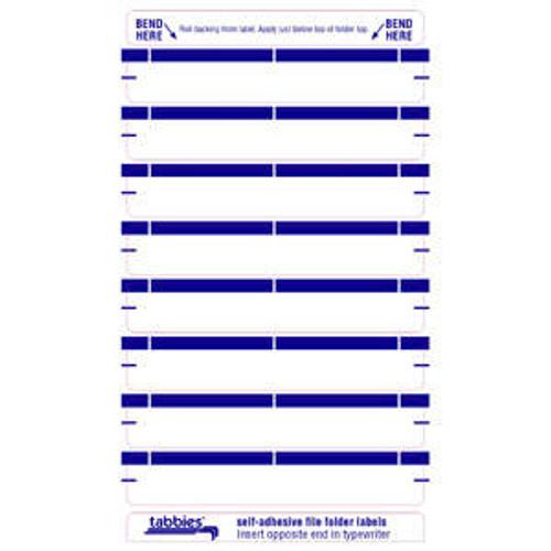 """AmeriFile Self Adhesive Name Labels - Dark Blue - 3 7/16"""" x 9/16"""" - 248 labels per package."""