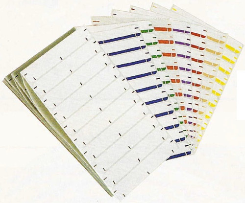 """Amerifile (Jeter 1800 series Compatible) Name Labels - Green - 3 1/2""""W x 5/8""""H - Pack of 250"""