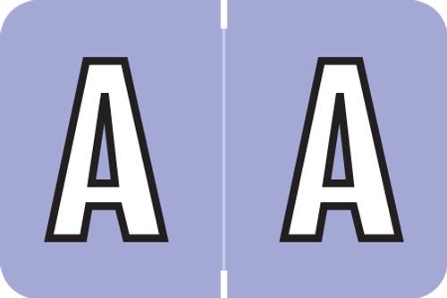 AmeriFile ColorBrite Alpha Labels - Letter A - Purple - 1 1/2 W x 1 H - Rolls of 500