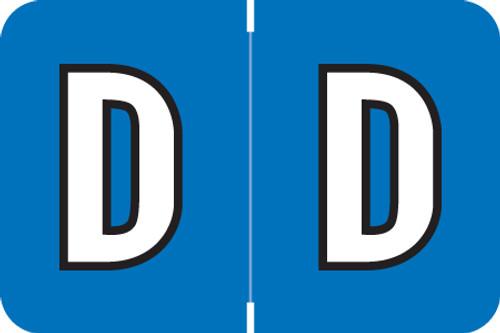ColorBrite Alpha Labels - Letter D - blue - 1 1/2 W x 1 H - Roll of 500