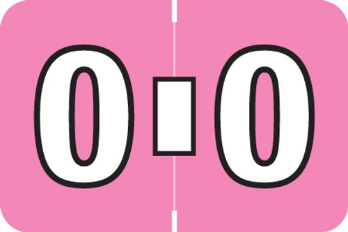 ColorBrite Alpha Labels - Letter O - Pink - 1 1/2 W x 1 H - Roll of 500