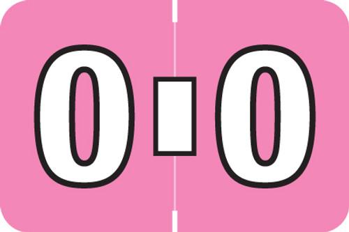 AmeriFile ColorBrite Alpha Labels - Letter O - Pink - 1 1/2 W x 1 H - Rolls of 500