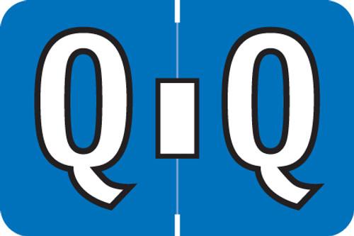 ColorBrite Alpha Labels - Letter Q - blue - 1 1/2 W x 1 H - Roll of 500