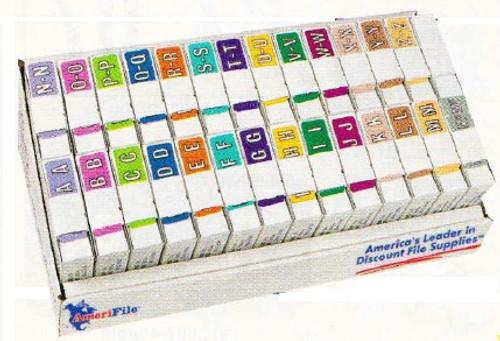 ColorBrite Alpha Labels - Rolls Starter SET - 27 Rolls of 500 - A-Z - ARAM-AT-T4