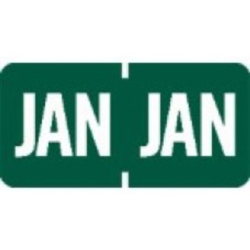 AmeriFile TAB Products Compatible Month Mini-Labels - January - Green - 1 W x 1/2 H - Roll of 1000