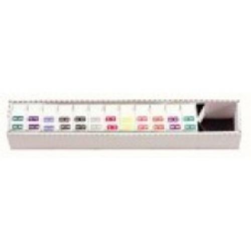 AmeriFile TAB Products Compatible Month Mini-Labels - Rolls - Starter SET Jan-Dec- 1 W x 1/2H - 12 Rolls of 1000 - L1279-SET