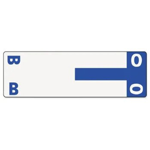 AmeriFile Alpha-Z Compatible Alpha Name Labels - Letter BO - Blue - 3 5/8 W x 1 1/8 H - Package of 100 Labels