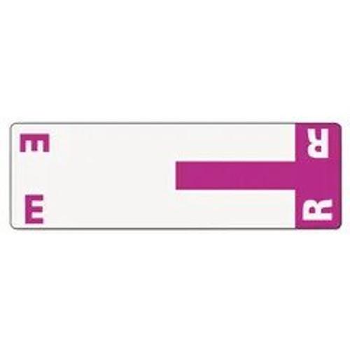 AmeriFile Alpha-Z Compatible Alpha Name Labels - Letter ER - Purple - 3 5/8 W x 1 1/8 H - Package of 100 Labels