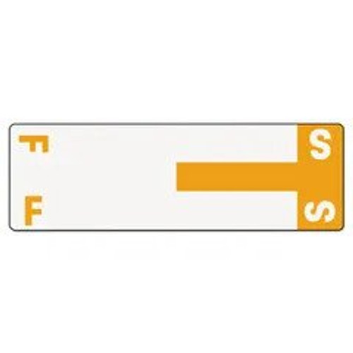 AmeriFile Alpha-Z Compatible Alpha Name Labels - Letter FS - Orange - 3 5/8 W x 1 1/8 H - Package of 100 Labels