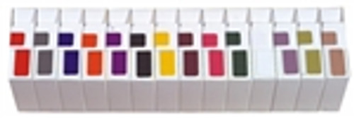 "AmeriFile Jeter 9500 Series Compatible Solid Color Labels - Starter SET 14 Colors- 1 1/2"" W x 3/4"" H - 14 Rolls of 500"