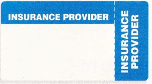 """AmeriFile Eye-Catching, Wrap-Around Labels - Insurance Provider - Blue - 3 1/4"""" x 1 3/4"""" - Roll of 500"""