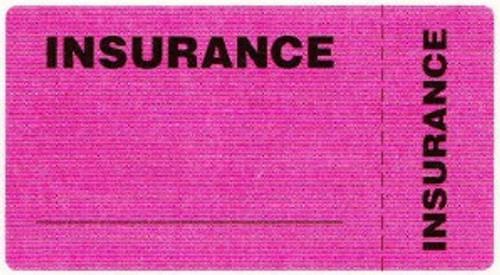 "AmeriFile Eye-Catching, Wrap-Around Labels - Insurance - Fl Pink - 3 1/4"" x 1 3/4"" - Roll of 250"