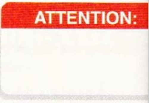 "AmeriFile Medical Alert and Allergy Labels -Attention - Red - 1 5/8"" x 7/8 "" - Roll of 250 - LCL2061H"