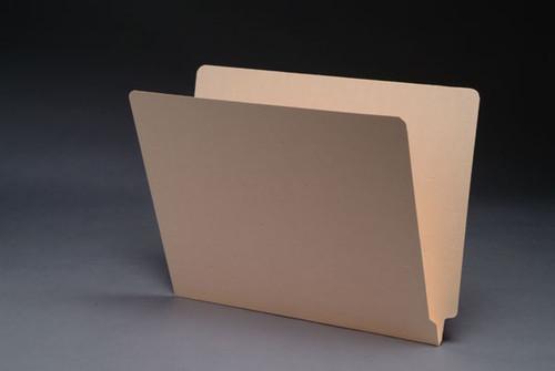 18 PT. Manila End Tab Folder, Full Cut End Tab, Letter Size, 50/Box