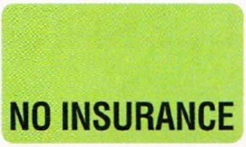 """AmeriFile Labels - No Insurance - 1 1/2"""" x 7/8"""" - Fl Green - Box of 250 - LCL2183H"""