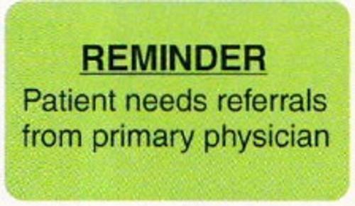 """AmeriFile Labels - Reminder - 1 5/8"""" x 7/8"""" - Fl Green - LCL2027"""