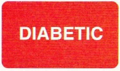 "AmeriFile Labels - Diabetic - 1 5/8"" x 7/8"" - Red - LCL2142"