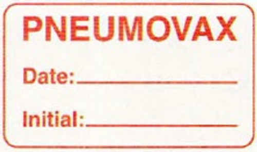 "AmeriFile Labels - Pneumovax - 1 5/8"" x 7/8"" - White - LCL2143H"