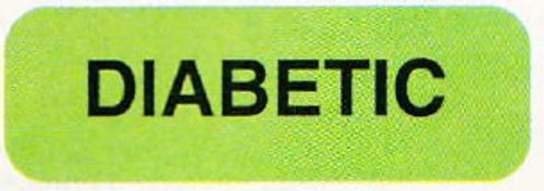 "AmeriFile Medical Labels - Diabetic - 1 1/2"" x 1/2"" - Fl Green - LCL1004 - Roll of 500"