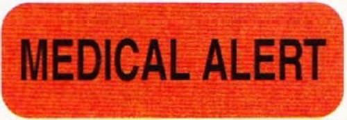 "AmeriFile Medical Labels - Medical Alert - 1 1/2"" x 1/2"" - Fl Red - LCL1006 - Roll of 500"