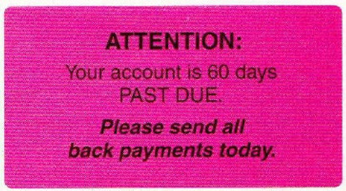 """AmeriFile Labels - Attention - 3 1/4"""" x 1 3/4"""" - Fl Pink - LCL6012H - Roll of 250"""