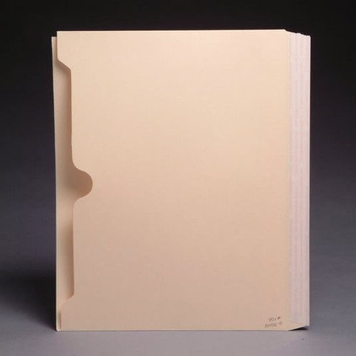 Side Hinge Self-Adhesive Full Pocket Dividers - 11 Pt - Letter Size - Box of 50
