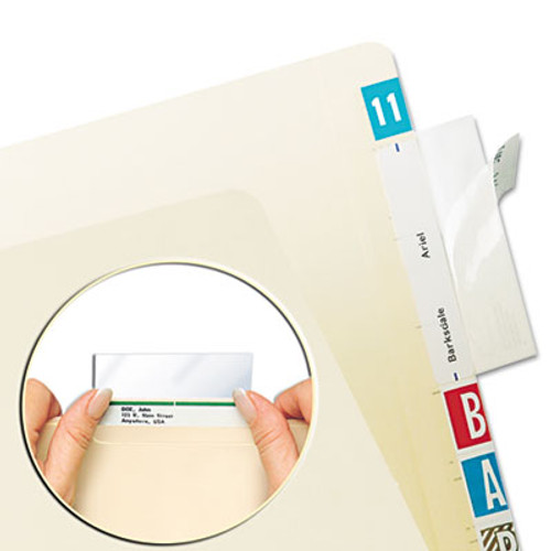 "Name Label Protector - Self-Adhesive for Top Tab Files -  3-1/2W X 1-3/4""H - Clear - 500/box"