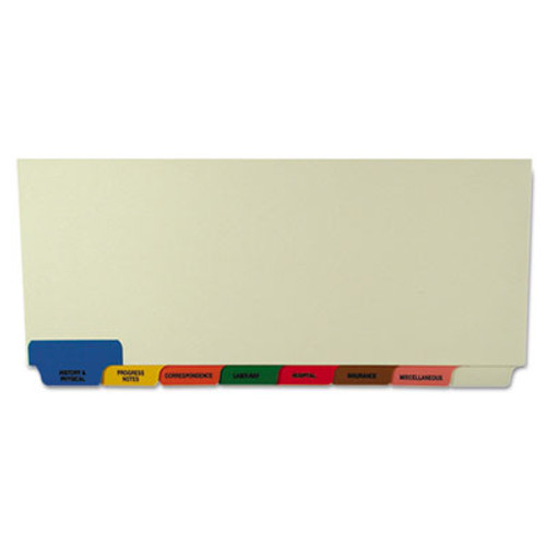 Medical Patient Chart Index Divider Sets - Bottom Tab - 8 Pre-Printed Medical Tabs -  40 Sets/Box