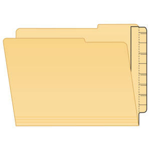 "File Folder End Tab Converter Extenda Strip,  Manila - 3-1/4""W x 9-1/4""H - 100/Box"