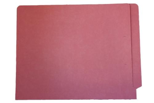End Tab File Folder w/ Fasteners - Position 2 & 4 - Pink - Letter - 11 pt - Reinforced Full End Tab - 50/Box
