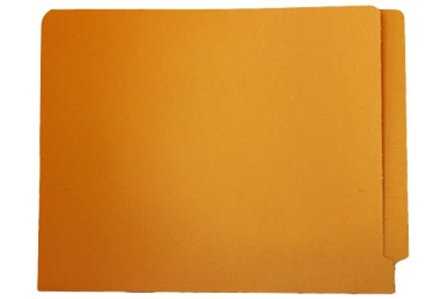 End Tab File Folder w/ Fasteners - Position 2 & 4 - Goldenrod - Letter - 11 pt - Reinforced Full End Tab - 50/Box