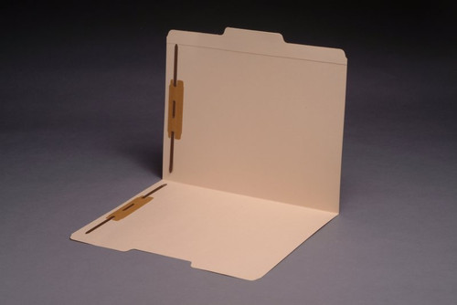 Top Tab File Folder -1/3 Cut Tabs in Assorted Positions - 14 Pt. Manila - With Fasteners in Positions 1&3 - 50/Box