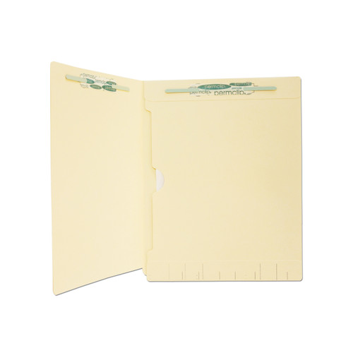 Medical Arts Press Match Manila End Tab Folders with Full Pocket and 2 Permclip Fasteners (50/Box)