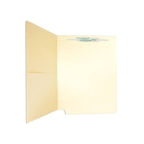 Medical Arts Press Match 11pt Manila End Tab Pocket Folders with 1 Permclip Fastener- Drop Front, Letter Size (50/Box)
