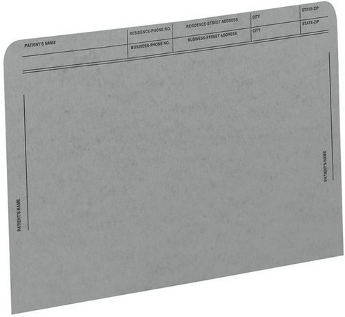 Medical Arts Press Match File Pockets with Printed Patient Grid- Gray, Letter Size, 50/Box (59547GY)