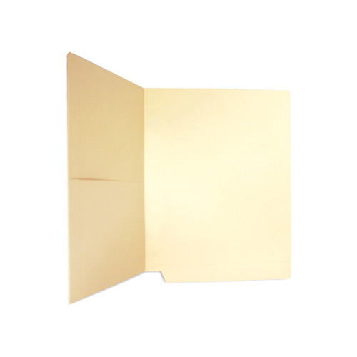 Medical Arts Press Match Manila End Tab Pocket Folders- Drop Front, Letter Size, 11pt (50/Box)