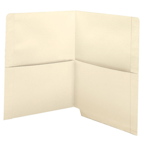 Medical Arts Press Match End Tab Folders with 2 Half Pockets- 11pt (50/Box)