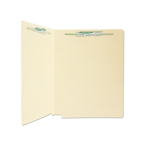 Medical Arts Press Match 11pt Full Cut End Tab File Folders with 2 Permclip Fasteners in Position 1 and 3- Letter Size (50/Box)