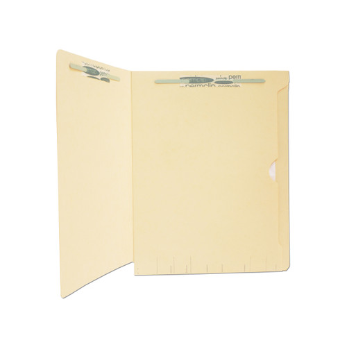 Medical Arts Press Match Confidential End Tab Folders with Full Back Pocket and 2 Permclip Fasteners (50/Box)