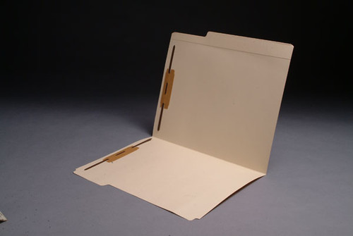 """Top Tab Folder with 8"""" Reinforced Top Tab - 11 Pt. Manila - Letter Size - Fasteners in Positions 1 & 3 - 50/Box"""