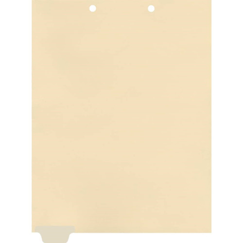 Medical Arts Press Match Write-On End Tab Chart Dividers- Blank, Tab Position 1- Clear (100/Pkg) (56836 match)