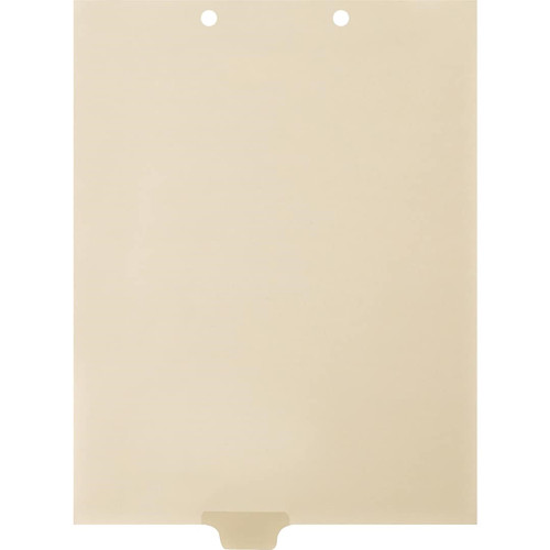 Medical Arts Press Match Write-On End Tab Chart Dividers- Blank, Tab Position 3- Clear (100/Pkg) (56838 match)