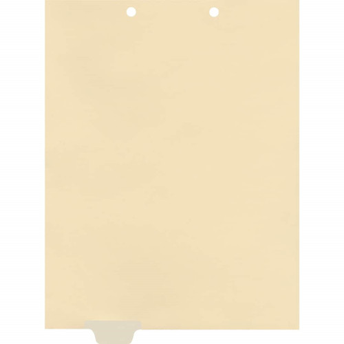 Medical Arts Press Match Write-On End Tab Chart Dividers- Blank, Tab Position 2- Clear (100/Pkg) (56837)