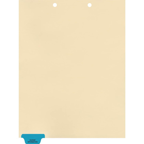 Medical Arts Press Match Colored End Tab Chart Dividers- Patient Information, Tab Position 1- Blue (100/Pkg) (56798)