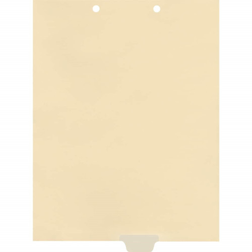 Medical Arts Press Match Write-On End Tab Chart Dividers- Blank, Tab Position 4- Clear (100/Pkg) (56839 match)